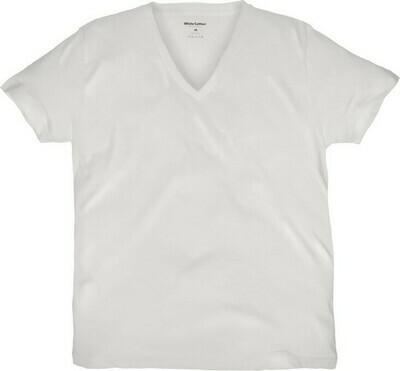 Camiseta White Cotton Cuello V
