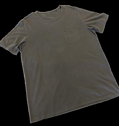 T-Shirt de Hombre Pima Orgánico Gris C/Bolsillo