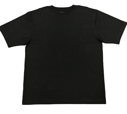 Camiseta White Cotton -Negro