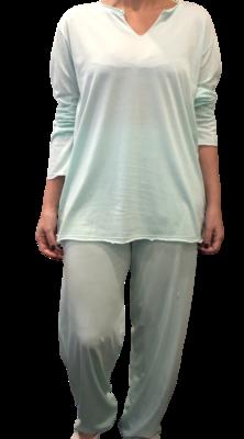 Polo Pijama ML-Mint Pima Orgánico