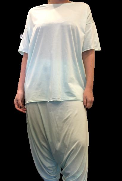 Pantalon Gaucho Pijama -Mint Pima Orgánico