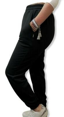 Jogger de Franela Perchada - Color Negro