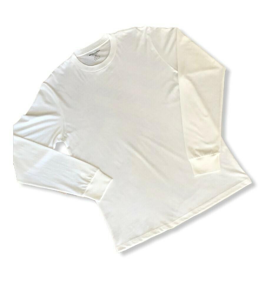 Polo Manga Larga Eco White Unisex