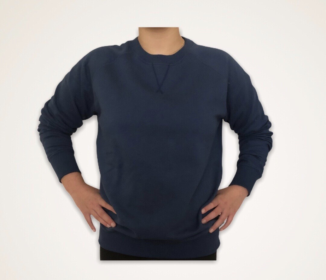 Sweatshirt Unisex de Franela Perchada - Azul Acero