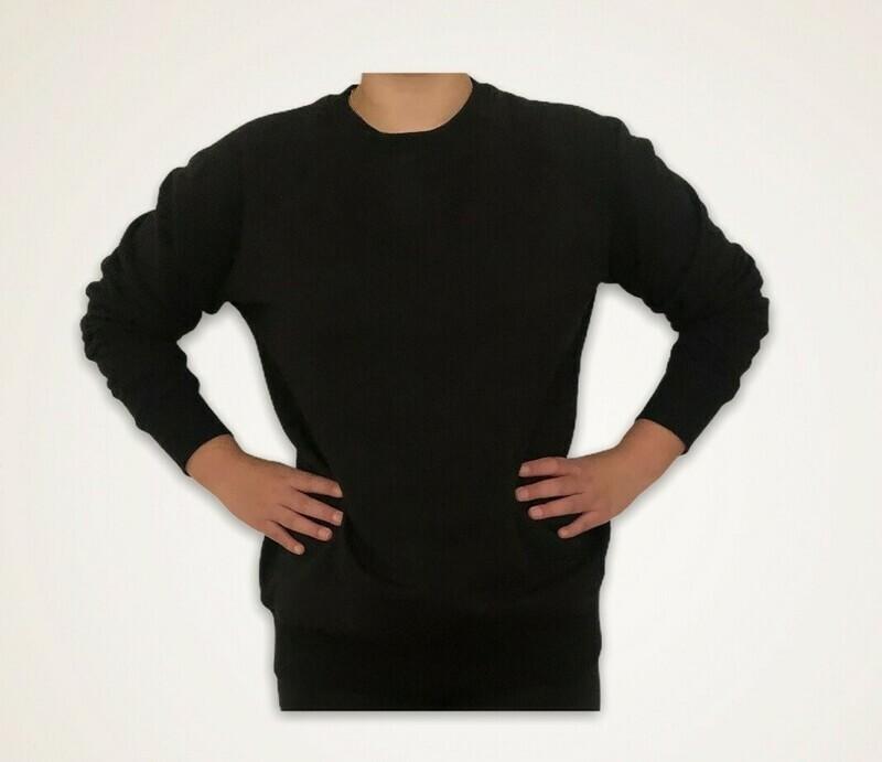 Sweatshirt Unisex de Franela Perchada - Negro
