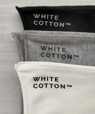 Pack de 3 Bandanas White Cotton