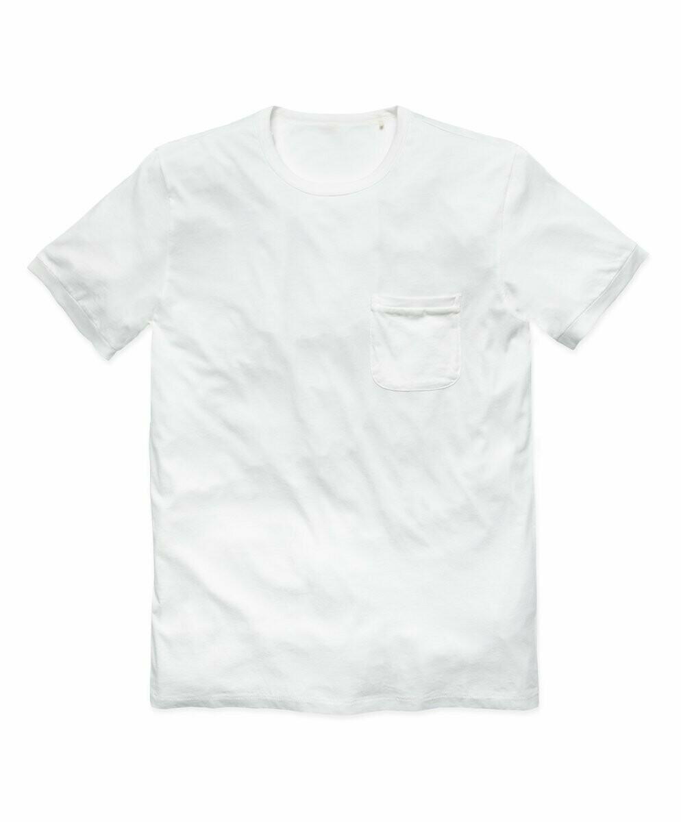 T-Shirt de Hombre Pima Orgánico Blanco C/Bolsillo