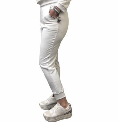 Jogger 100% French Terry Eco White