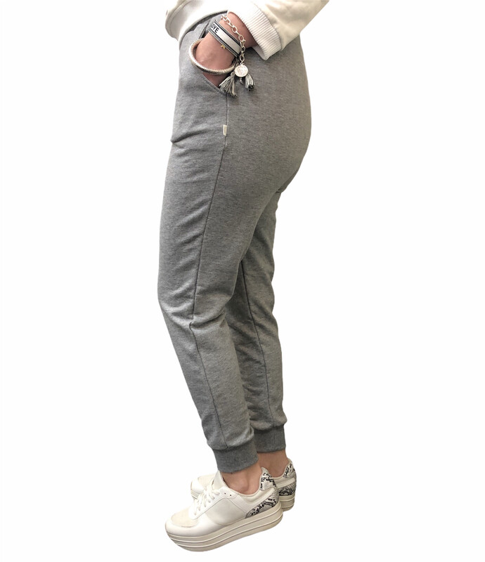 Jogger 100% French Terry Heather Grey