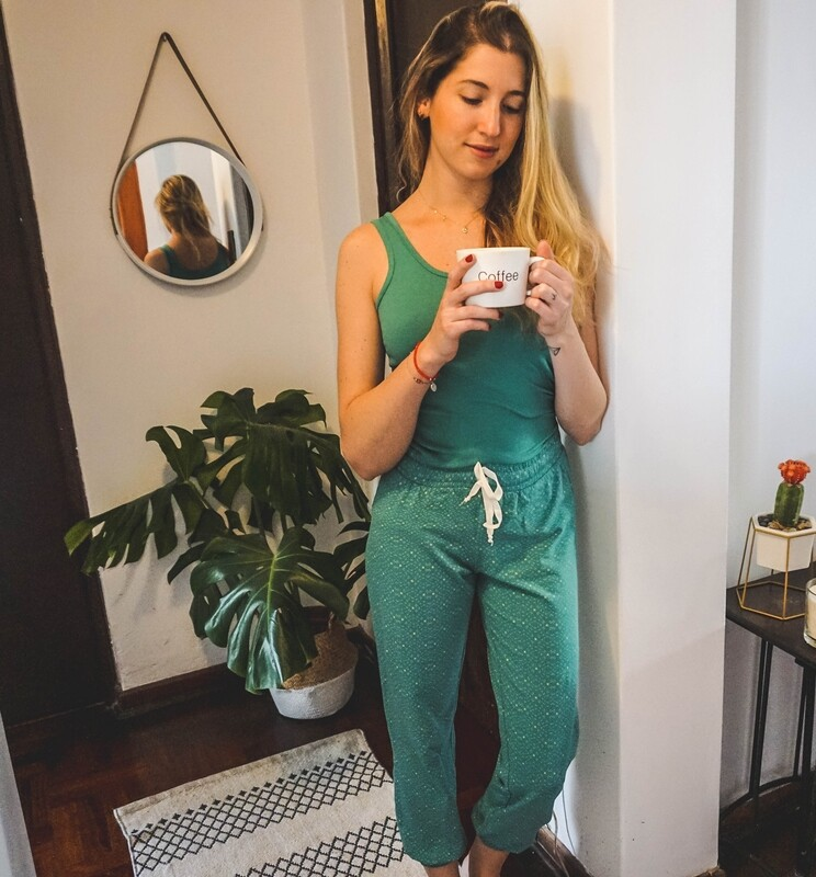 Set Pijama Pantalón y Tank Twilight Green