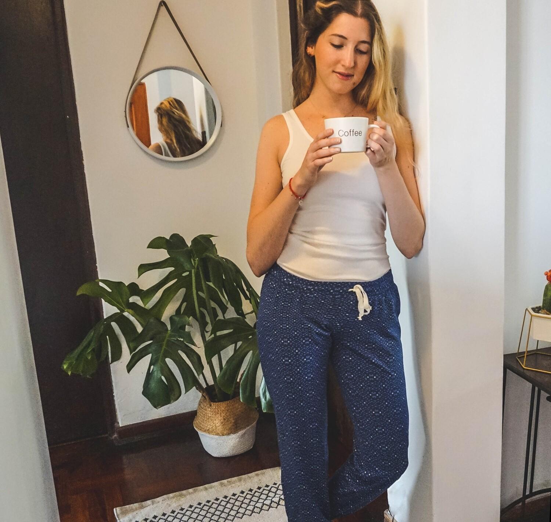 Set Pijama Pantalón y Tank Twilight Blue