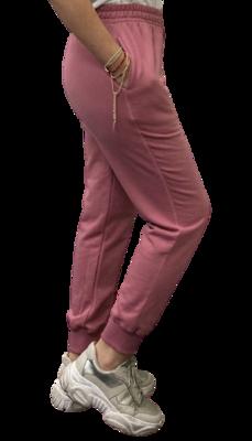 Jogger de Franela de 100% Algodón Orgánico-Mauve