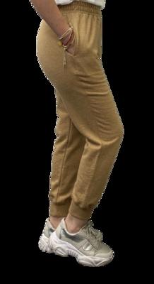 Jogger de Franela de 100% Algodón Orgánico-Toffee