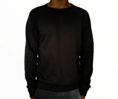 Sweatshirt Unisex de Franela Perchada - Jet Black