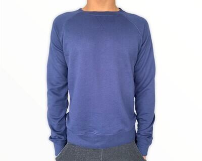 Sweatshirt Unisex de Franela Perchada - Bleu