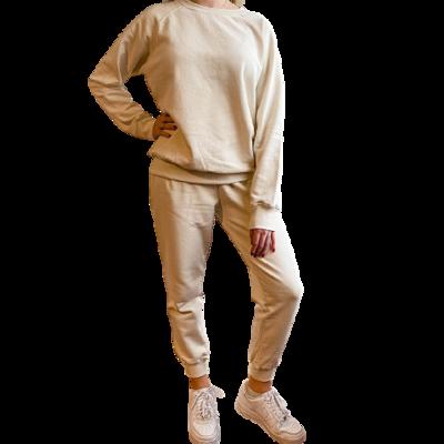 Set Jogger & Sweatshirt Franela Perchada-Oatmilk