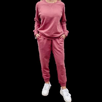 Set Jogger & Sweatshirt Franela Perchada-Mauve