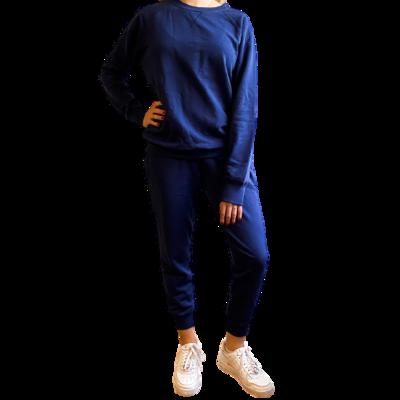 Set Jogger & Sweatshirt Franela Perchada-Bleu