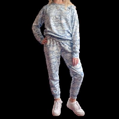 Set Jogger & Sweatshirt Franela Perchada-Tie Dye Azul