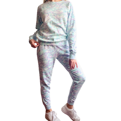 Set Jogger & Sweatshirt Franela Perchada-Tie Dye Mix