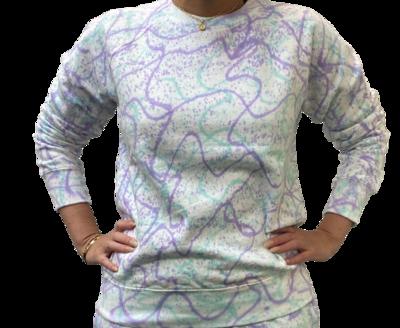 Sweatshirt Unisex de Franela Perchada - Tie Dye Mix