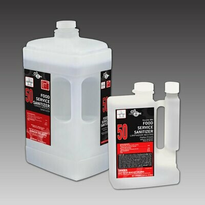 CLEAN WORKS 2 #50 Food Service Sanitizer Cleaner 2/2-LITERS/CS FREE LOCAL DELIVERY