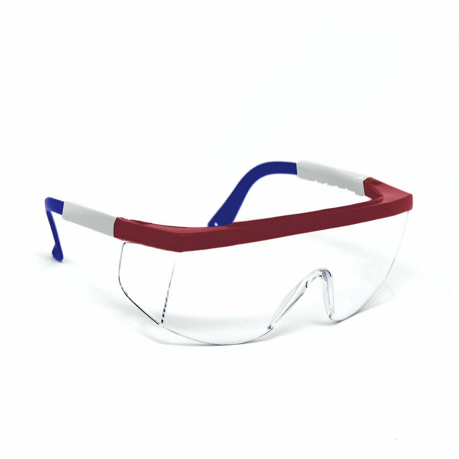 Optic Max Clear Lens With Red/White/Blue Frame