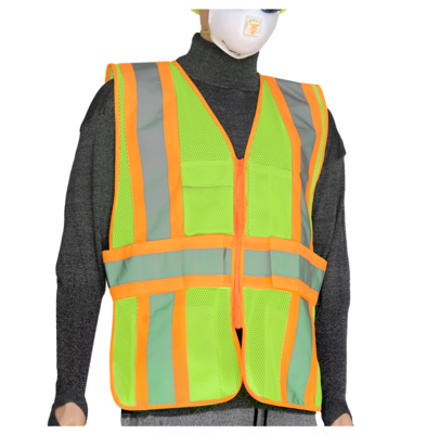 Glow Shield Class-2 Safety Vest with Expandable Side Panels