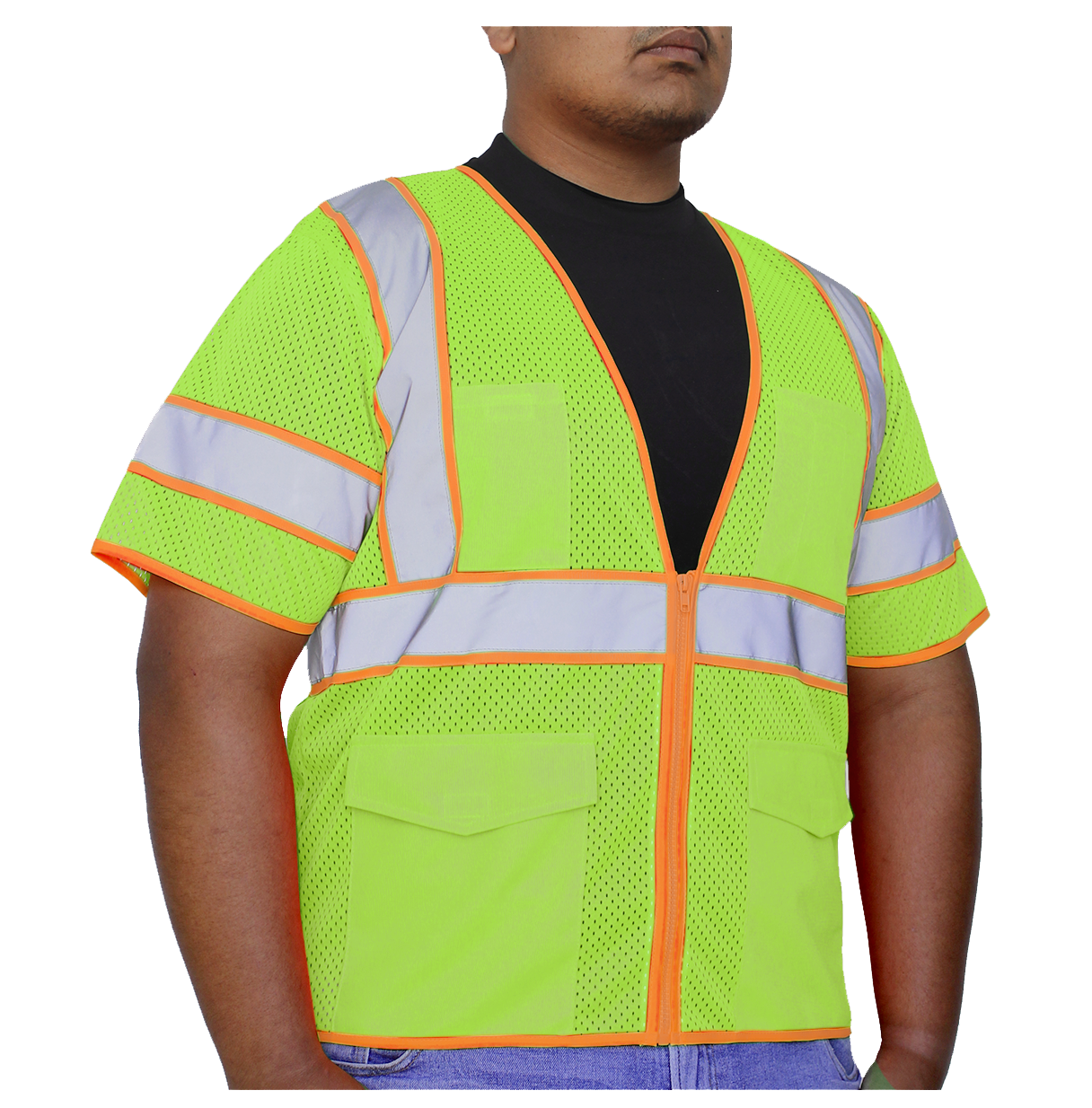 Glow Shield Class-3 Two-toned Safety Vest with Sleeves