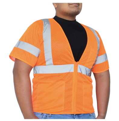 Glow Shield Class-3 Safety Vest with Sleeves and Multi-pockets
