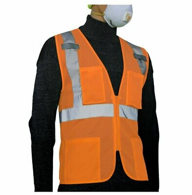 Glow Shield Class-2 Safety Vest with Multi-pockets