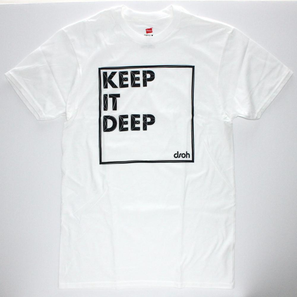 SALE 3XL ONLY - Keep It Deep T-Shirt (white, dark gray)
