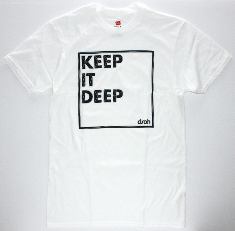 SALE 3XL ONLY - Keep It Deep T-Shirt (white, dark gray)