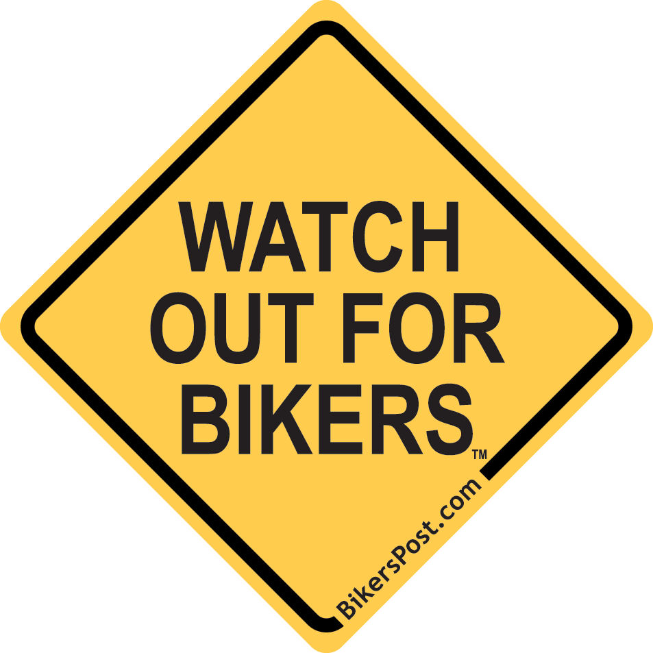 WATCH OUT FOR BIKERS Sticker