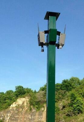 Galvanized steel camera tower 2 meters