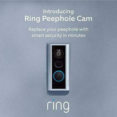 Ring Peephole Cam - Smart video doorbell, HD video, 2-way talk, easy installation - Satin Nickel