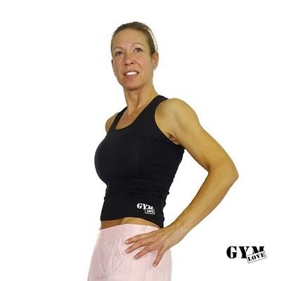 GymLove Fit - Shirt Schwarz