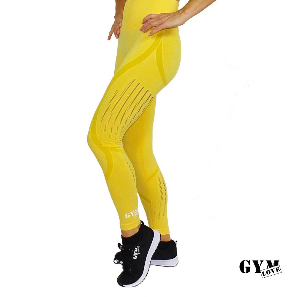 GymLove Push-Up Leggings Gelb