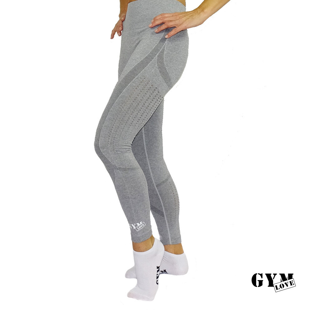 GymLove Push-Up Leggings grau