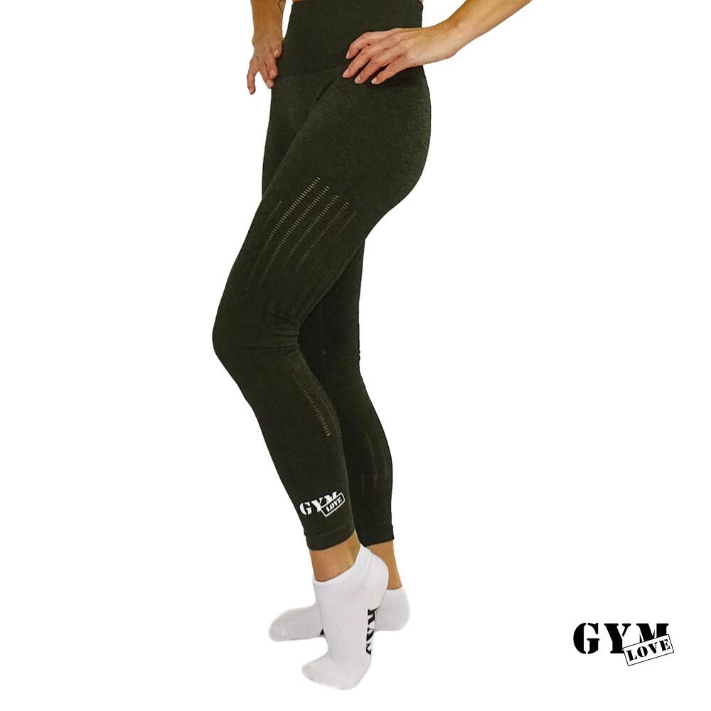 GymLove Push-Up Leggings dunkelgrün