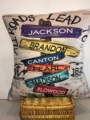 All Roads Pillow