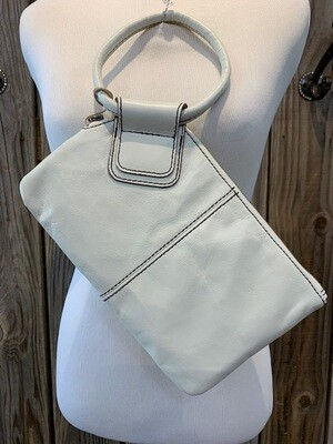 Hobo Sable Round Handle Clutch Latte