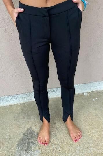 Strut & Bolt Black Open Cuff Skinny Leg Pant