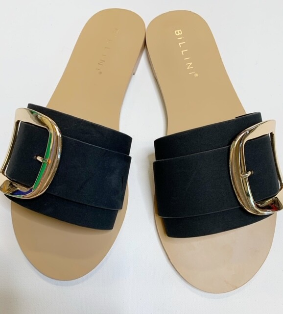 Billini Black Buckle Sandal