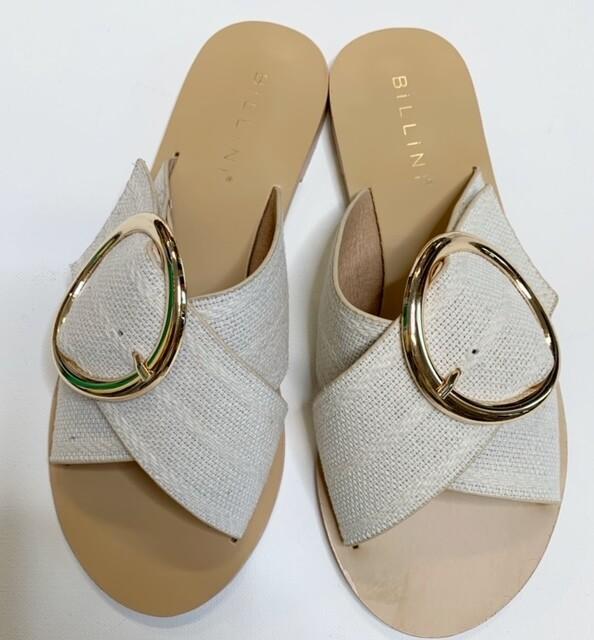 Billini Cream Woven Buckle Sandal