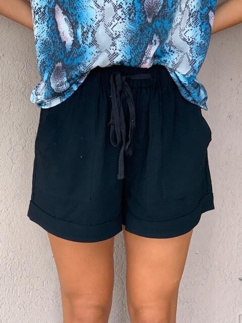 Drawstring Shorts - Black