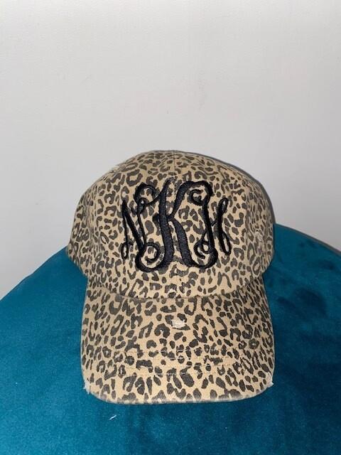 Leopard Hat With Monogram Option