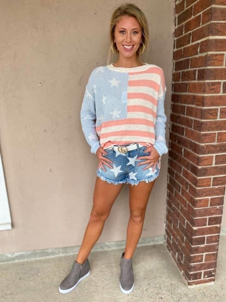 Lightweight Pastel Flag Sweater