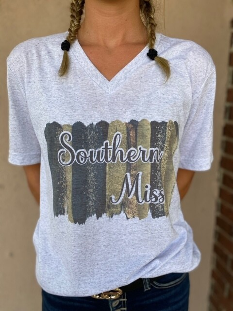 Southern Miss V Neck Tee