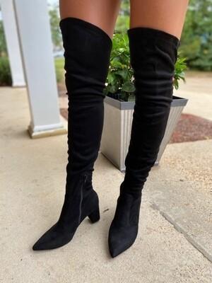 Wild Diva Black Knee Boots